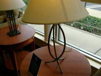 Both lamps (including shades) for $49.99 plus tax These