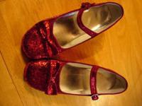'Wizard of Oz' Dorothy's Ruby Red sparkly shoes.