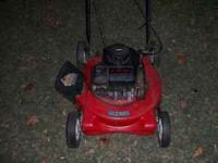 "Wizard Push mower 22""cut 3.75HP Quiet easy start Runs"