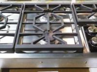 "Brand New 36"" Gas Cooktop with 5 Dual-Stacked Sealed"