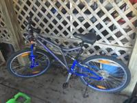 A few times used women mountain bike. 24 gears. $120 or