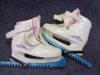 Women's freestyle ice skates white size 8 white with
