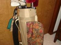 """Knight"" golf clubs, bag, gloves....everything you need"