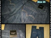 Woman's Levis With Bling, perfect fit and comfy Size