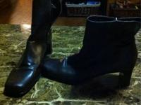 2 pairs of woman's boots brown size 9 but fits like a 8
