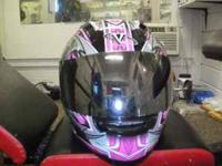 woman's motorcycle helmet size small only worn 10 times