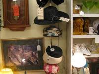 LOTS OF WOMANS VINTAGE HATS IN BOOTH SPACE # VO4 MORE