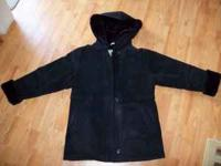 Women's black suede coat by Marvin Richards in size