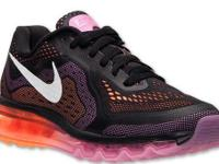 Women Air Max 2014 Black Orange Pink Running Shoes
