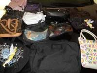 7 women purses, 3 wallets, and 3 hand bags. All for