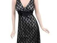 Katia brand black occasion dress (black lace with white