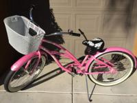 Like new. 3 speed. Coaster brakes. Includes basket for