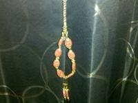 This 2 pc. Set has goldstone gemstones that are top