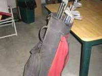 WOMENS GOLF CLUBS AND BAG. FULL SET PLUS XTRA DRIVERS.