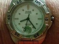 Stainless steel water pro watch, with date and moving