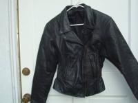 Women?s Preston & York Leather Black Jacket in Size