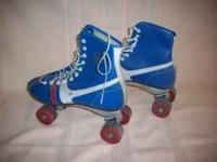 These are official Roller Derby skates that have been