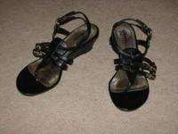 Selling my Black Gladiator Style Short Wedge Sandals