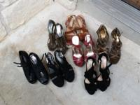 Lot of 7 women's heels for sale. All fit size 8,