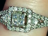 I have a 1/3 carat w/10k white gold band. Size is 6.25