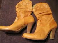 Western-style boots, size 7 1/2, very soft leather,