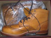Never taken out of the box. Yellow Size 9-10. I have
