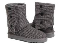 Women Size 6 UGG Classic Cardy Tall Boots-Grey! BRAND