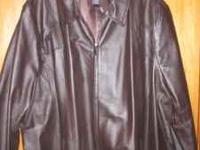 NEW LOWER PRICE FOR THIS COAT! Brown Leather Coat from
