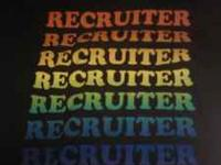 recruiter tshirt medium $5 hooters polo large $5