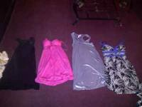 Womens clothing, 3 of the dresses have never been worn.