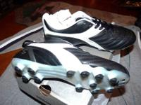 New, Never worn Sz.6 med. soccer shoes. retail in
