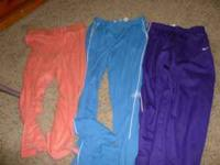I have for sale three pairs of pants size xs. Purple