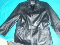 Womens petite genuine leather jacket size small.