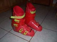 One pair of Womens Downhill skis boots. These are made