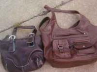 I AM SELLING 2 PURSES AND 6 PAIRS OF SHOES...WOMENS