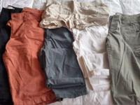 Eight pieces of clothing total (all brand new, LIGHTLY