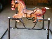 1980's era Wonder horse, spring rocking horse, good