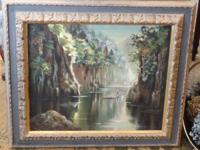 Wonderful Painting and Frame at RARE and RETRO