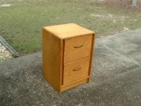 This is a nice wood file cabinet setup for letter size