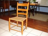chair is lightweight and sturdy. has wooden frame and a