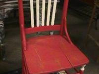 Wood Antique Faux RED Chair      The Good stuff doesn't