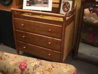 Wood Baby Chest Drawer Changing Table Get there 1st and