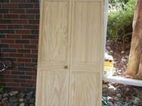 "Wood Bi-fold Doors Unfinished Size 27 3/4"" wide x 78"""