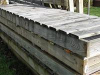 I am selling 80' of wood boat dock and stanchions.