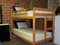 Variety of wood bunk beds starting at $229. Bunk beds