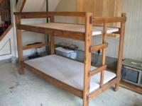 wood bunk beds with bunky boards. great condition- no