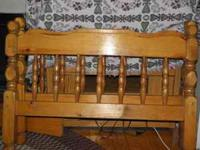 Wood bunk beds sturdy, good used condition  Location:
