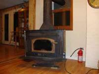Wood Burning Buck Stove, free-standing, works good.