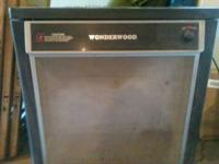 Wonderwood wood burning stove with blower attachment
