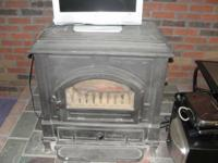 wood stove  31 in /w     29 in/ h       20 in /d
